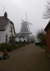 Windmill at the centre of the village